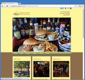 Stage House Tavern Website